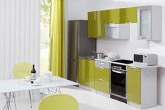 260 cm széles blokk konyha remek minőségű, magasfényű olivazöld MDF ajtókkal. Az ajtókat csillapított nyílású gáz-teleszkópok tartják a Te kényelmedért.A munkalapot kérésedre méretre is szabjuk.  Ebben a szettben a lenti elemek vannak, ám ha nem pont ekkora a konyhád, a lista kívánságod szerint bővíthető, szabható:  Alsószekrények: 40 cm széles 82 cm magas 3 fiókos alsószekrény, 60 cm széles 82 cm magas 3fiókos alsószekrény, 80 cm széles 82 cm magas kétajtós alsuószekrény, 80 cm széles…