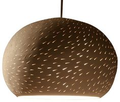 Claylight Pendant 11'', Line Pattern contemporary-pendant-lighting