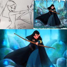 Mulan as Merida