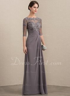 A-Line/Princess Scoop Neck Floor-Length Chiffon Lace Mother of the Bride Dress With Beading Sequins A-Linie / Princess-Linie U-Ausschnitt Bodenlang Chiffon Kleid für die Brautmutter mit Perlenstickerei Pailletten Open (Visited 1 times, 1 visits today) Gala Dresses, Lace Evening Dresses, Evening Gowns, Linen Dresses, Mother Of The Bride Dresses Long, Mothers Dresses, Long Mothers Dress, Vestidos Fashion, Fashion Dresses