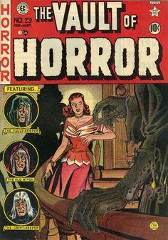 A cover gallery for the comic book Vault of Horror Sci Fi Comics, Horror Comics, Horror Art, Vintage Comic Books, Vintage Comics, Comic Books Art, Comic Art, Creepy Comics, Albin Michel