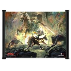 1 X Legend of Zelda: Twilight Princess Game Fabric Wall Scroll Poster (21'x16') Inches ** Awesome product. Click the image : DIY : Do It Yourself Today