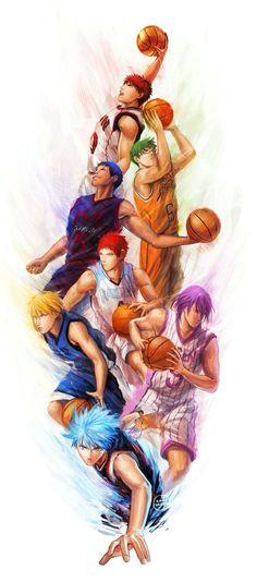 155 Kuroko no Basket - Kurokos Basketball Basuke Japanese Anime Poster Otaku Anime, Anime Guys, Manga Anime, Anime Art, Manga Girl, Kuroko No Basket, Fanarts Anime, Anime Characters, Kagami Kuroko