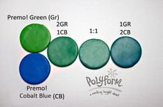 Premo! Green and Cobalt Blue   #Polymer #Clay #Colormix