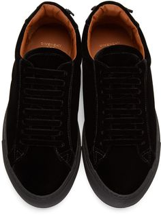 Givenchy - Black Velvet Sneakers