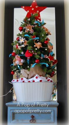 My Holiday Open House: Red & Turquoise Christmas Decor! | A Pop of Pretty: Canadian Decorating Blog | Finding the pretty in an every day home | Affordable home decor ideas tips tutorials inspiration |St Johns NL