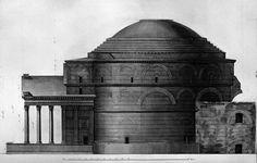 Giovan Battista Piranesi, prospetto laterale del Pantheon. A schermo intero! Dottrina dell'Architettura Architetto David Napolitano