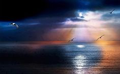 Light breaking through the storm clouds over the Pacific ocean from the bluffs at Rancho Palos Verdes, California. Great Pictures, Nature Pictures, Cool Photos, Beautiful Sky, Beautiful Landscapes, Beautiful Beaches, Beautiful Things, Let Go Of Everything, I Need Vitamin Sea