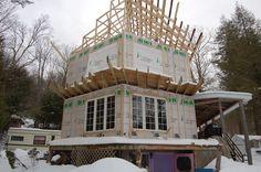 Rénovation d'une maison après sinistre, reconstruction d'une partie de la charpente