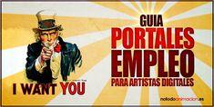¿Buscas ofertas de empleo para artistas digitales? Si te dedicas a la animación 2d & 3d, ilustración, arte 3d, diseño, VFX, postproducción o cualquier disciplina del arte digital aquí tienes una guía con los principales portales de empleo especializado de la industria del cine, publicidad, videojuegos y TV