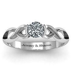 Half Bezel Infinity Ring #jewlr  My engagement ring?