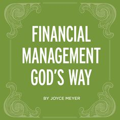 Money, money, money. Are you controlling it or is it controlling you? Download Joyce's free eBook, Financial Management God's Way, and get ready for God to take you on your journey to financial freedom: http://books.noisetrade.com/joycemeyer/financial-management-gods-way