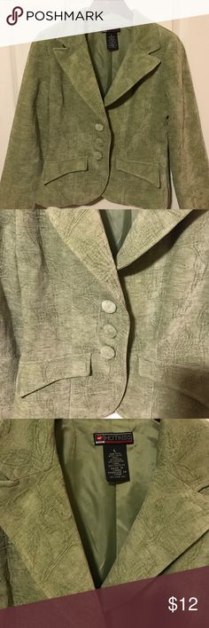 Green blazer. Excellent condition.  Soft corduroy shell with pretty pattern.  Really cute for the office or with jeans. Hot Kiss Jackets & Coats Blazers