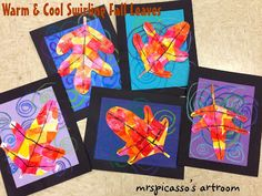 First Grade Lesson Plan: mrspicasso's art room: Warm & Cool Swirling Leaves