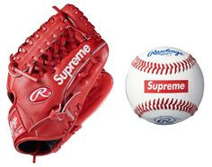 Supreme x Rawlings - Official League Baseball + Player Preferred Glove | Available Now.