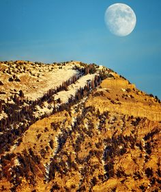 Moon rising rise east of Orem Nov 2013