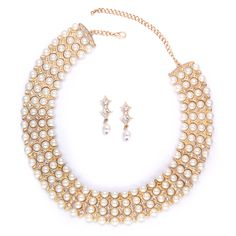 Pearl Bridal Jewelry Magnificent Ivory Pearl and Gold Wedding Necklace Set Wedding Necklace Set, Wedding Jewelry, Gold Wedding, Wedding Gifts, Wedding Ideas, Gold Bridal Jewellery Sets, Bridesmaid Jewelry Sets, Ivory Pearl, Pearl Jewelry