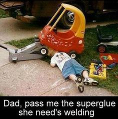 Working on cars starts early. Kids love it. Get off facebook and have some fun with them. Check out our store at 765 Woodward Ave, Hamilton, ON. L8H6P5. Call us now for pricing over the phone. 905.545.9339. https://aadiscountauto.ca/ #AADiscount #AADiscountAuto #CheapParts #AutoParts #Replacementparts #AutomtiveParts #AADiscountAutoParts