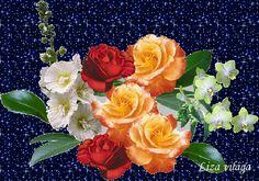 Beautiful Gif, Flower Art, Flower Arrangements, Gifs, Plants, Painting, Wallpapers, Queen, Good Night Msg