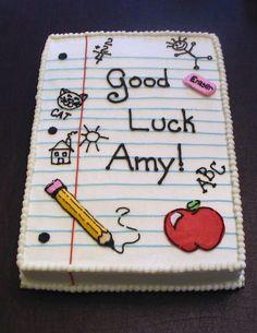 back to school cake Back To School Party, School Parties, High School, Teacher Cakes, Birthday Cake For Teacher, Cakes For Teachers, Teacher Party, Student Teacher, School Teacher