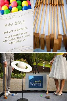 Miniature golf at the wedding reception    35 Incredibly Creative Ways To Add Color To Your Wedding