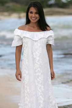 Matching blue at makapuu hawaiian shirt dress for Plus size hawaiian wedding dresses