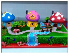 Smurf village cake by Cahit Özgün