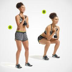 The One-Dumbbell Workout: Narrow-Stance Goblet Squat, Single-Arm Bent-. The One-Dumbbell Workout: Narrow-Stance Goblet Squat, Single-Arm Bent-Over Row, Single-Arm Chest Press, Dumbbell Swing. One Dumbbell Workout, Arm Workout Men, Workout Women, Dumbbell Exercises, Weight Exercises, Fitness Motivation, Fit Girl Motivation, Arm Workout No Equipment, Beauty