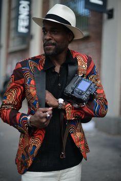 Street Style - Dapper Photographer Karl Guerre..Milan, Italy