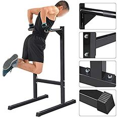 14d4f2f4c09 Yaheetech Heavy Duty Dip Stand Parallel Bar Bicep Triceps Home Gym Dipping  Station