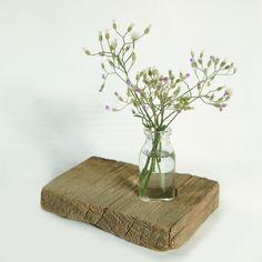 Bouteille Vase Vase avec bois récupéré B-12
