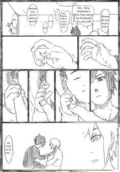 SasuSaku family doujinshi page 5, all the he's turn to she's