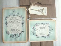 Vintage wedding invitation  Candy Label  Simone di anistadesigns, $7.50