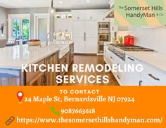 It looks like you are all set to have your Kitchen renovated. Well, if that is so, you have come to the right place. The Somerset Hills Handyman gives you the best and quality kitchen remodeling services in Bernardsville. Because, to enjoy appropriate function and value, you must invest in the right fixtures and amenities. Kitchen Remodeling Contractors, Home Remodeling, Quality Kitchens, Somerset, Home Decor, Decoration Home, Room Decor, Home Interior Design, House Remodeling