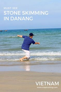 Skimming Stones Like a Pro in Danang