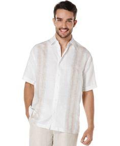 Cubavera Linen Stripe Shirt