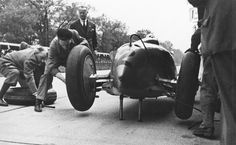 Achille Varzi's Auto Union Type B pitstop during the 26 May Avus-Rennen, Berlin, 1935…