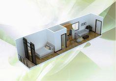 planta de uma casa container - Pesquisa Google
