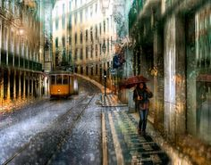 Photographs in the Rain that look like Oil Paintings. See more art and information about Eduard Gordeev, Press the Image.