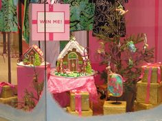 Lilly Pulitzer Holiday Gingerbread House - Our LP gingerbread houses were displayed in their holiday window and later raffled in their Holiday contest.