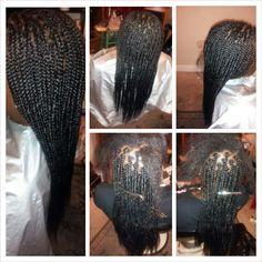Medium sized box braids