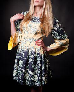 #yellowdresses #summerdresses #sleevesdresses #darkbluedresses #sakuradresses #saledresses Late Summer, Summer Sale, Dresses With Sleeves, Summer Dresses, Yellow, Long Sleeve, Floral, Skirts, Fashion