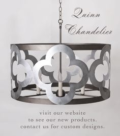 We love our new Quinn Chandelier at Julie Neill Designs!