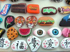 Misc. Painted Rocks 3 by Nevuela.deviantart.com on @DeviantArt... love chocolate bars !!!!!