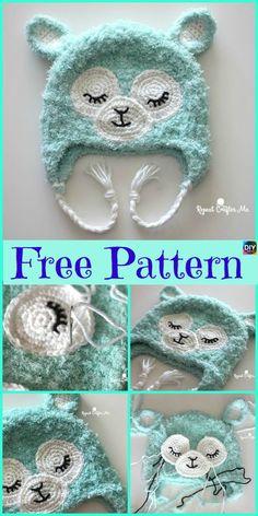 e685a7b40b1 Cute Crochet Llama Hat - Free Pattern. Crochet GirlsCrochet Kids HatsCrochet  BeanieCute CrochetCrochet ScarvesKnit ...