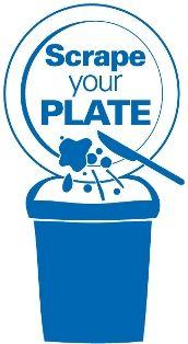 Scrape Food Into Bin Kitchen Sign