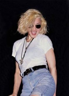 Madonna at Who's That Girl's premiere in New York City, 1987 Madonna 90s, Lady Madonna, Madonna Like A Prayer, Madonna Pictures, 80s Aesthetic, Mtv Videos, Mtv Video Music Award, I Icon, Material Girls