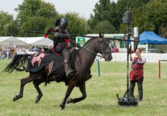 A Knight Charging Towards a Quintain