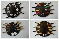 Spel spin & wasknijpers poten