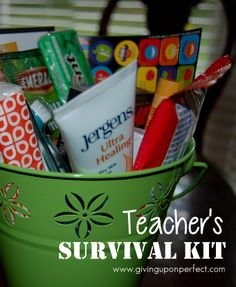 45 Ideas for Making a Teacher's Survival Kit..... embarrassing to make one for myself??